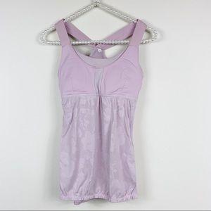 Lululemon lavender bubble hem mesh tank 6
